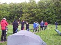 16 Bogenschützen trotzen dem Regen auf der Vereinsmeisterschaft (FITA)