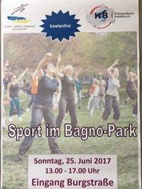 """""""Sport im Park"""" am kommenden Sonntag"""