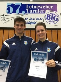 Goldenes Wochenende für Konstantin Krüger und Jessica Mamok