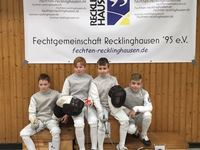 4 Fechter des TB Steinfurt nehmen an Recklinghäuser Schnellballschlacht teil