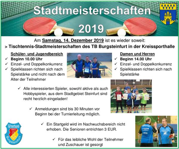 TSadtmeisterschaften 2019