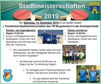 TB sucht die besten Steinfurter Tischtennisasse