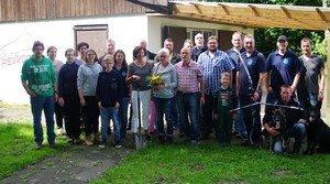 Neues Bogensportgelände übernommen. Erste Arbeiten mit vielen Helfern.