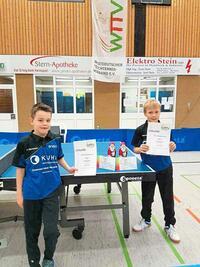 Nachwuchs des TB Burgsteinfurt bei Endrangliste des WTTV